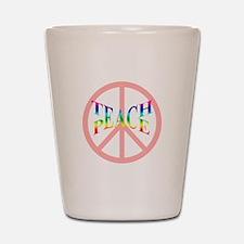 Teach Peace Shot Glass