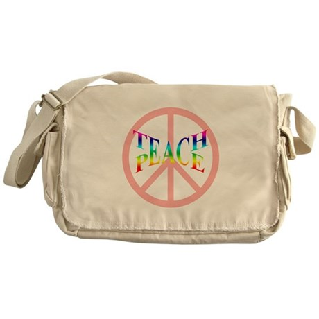 Teach Peace Messenger Bag