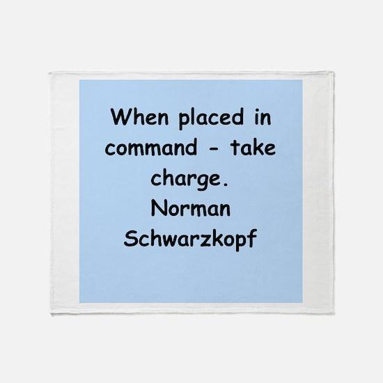 norman schwartzkopf Throw Blanket