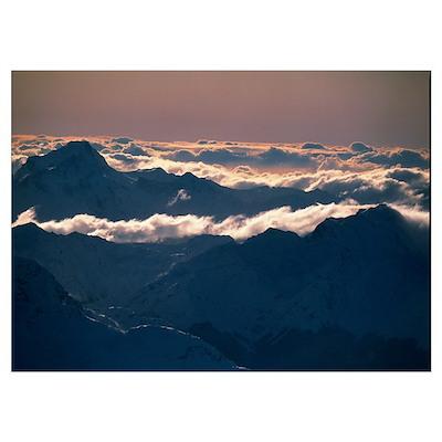 Richardson Mountains Otago New Zealand Poster