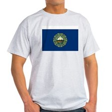 New Hampshire State Flag Grey T-Shirt