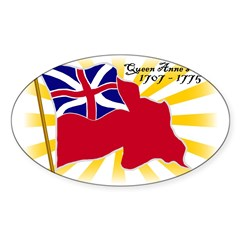 Colonial Red Ensign Sticker (Oval 50 pk)