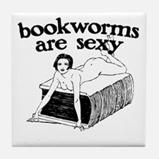 Bookworms Are Sexy Tile Coaster