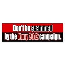 Anti Kony 2012 Fraud Bumper Bumper Sticker