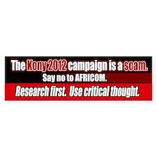 Anti Kony 2012 AFRICOM scam Bumper Bumper Sticker