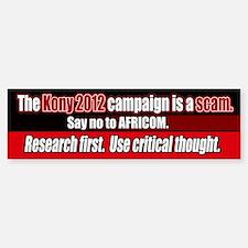 Anti Kony 2012 AFRICOM scam Bumper Bumper Stickers