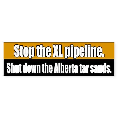XL Pipeline Tar Sans Bumper Sticker