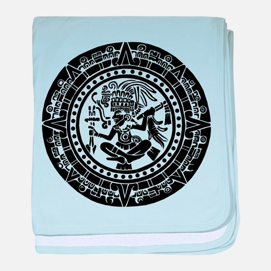 Mayan Calendar - Lights baby blanket