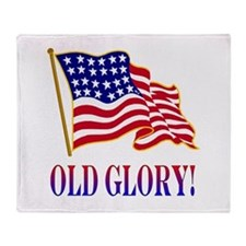 Old Glory Throw Blanket