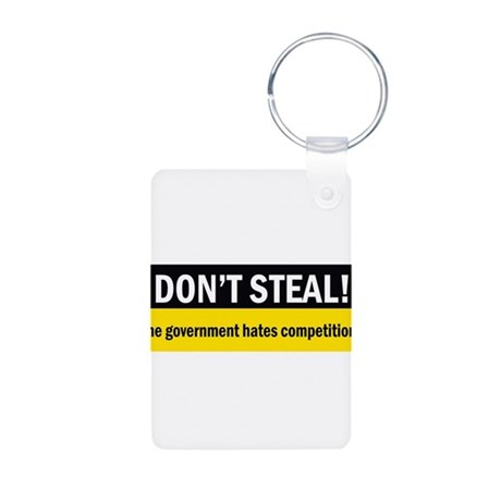Don't Steal Aluminum Photo Keychain