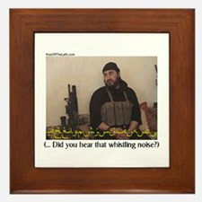 """Zarqawi """"Did you hear (cont)"""" Framed Tile"""