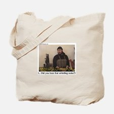 """Zarqawi """"Did you hear (cont)"""" Tote Bag"""