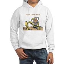 Digger and Text. Hoodie