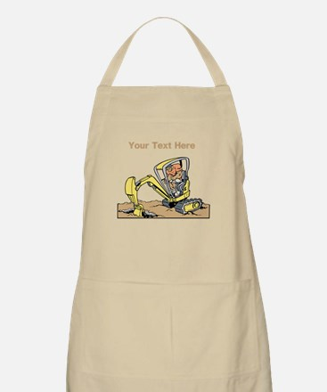 Digger and Text. Apron