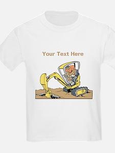 Digger and Text. T-Shirt