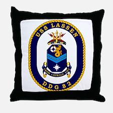 USS Lassen DDG 82 Throw Pillow