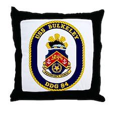 USS Bulkeley DDG 84 Throw Pillow