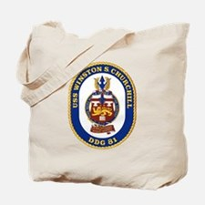 USS Churchill DDG 81 Tote Bag