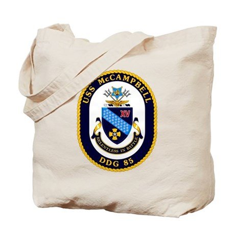 USS McCampbell DDG 85 Tote Bag