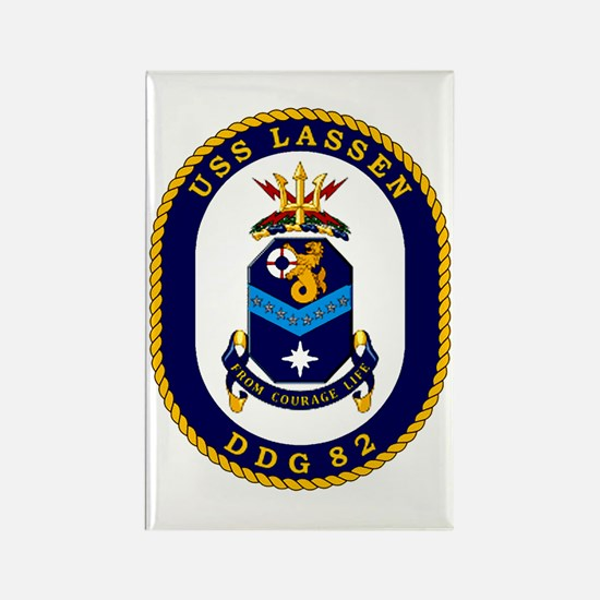 USS Lassen DDG 82 Rectangle Magnet