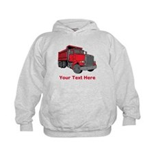 Big Red Truck with Text. Hoodie