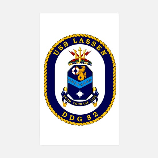 USS Lassen DDG 82 Rectangle Decal
