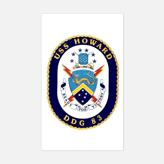 USS Howard DDG 83 Sticker (Rectangle)