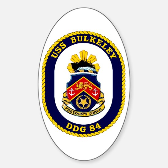 USS Bulkeley DDG 84 Oval Decal