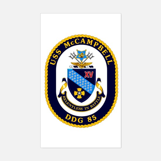 USS McCampbell DDG 85 Sticker (Rectangle)