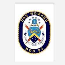 USS Howard DDG 83 Postcards (Package of 8)