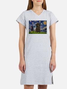 Starry Night / Affenpinscher Women's Nightshirt