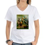 Spirit '76 - Airedale #6 Women's V-Neck T-Shirt