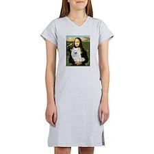MonaLisa-AmEskimoDog Women's Nightshirt