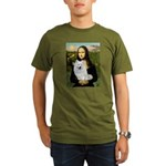 MonaLisa-AmEskimoDog Organic Men's T-Shirt (dark)