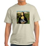 MonaLisa-AussieCattle Pup Light T-Shirt