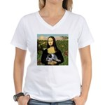 Mona's Aussie Cattle Pup Women's V-Neck T-Shirt