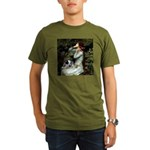 Ophelia - Aussie Cattle Pup Organic Men's T-Shirt