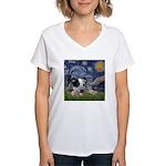 Starry-AussieCattleDogPup Women's V-Neck T-Shirt