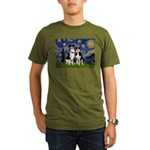 Starry - Twp Aussies (scarvs) Organic Men's T-Shir