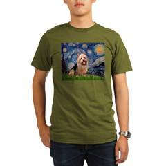Starry-AussieTerrier Organic Men's T-Shirt (dark)