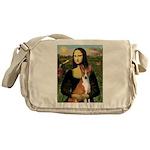 Mona Lisa - Basenji Messenger Bag