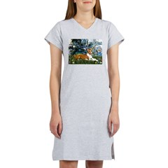 Lilies (1) with a Basenj Women's Nightshirt