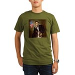Lincoln / Basset Hound Organic Men's T-Shirt (dark