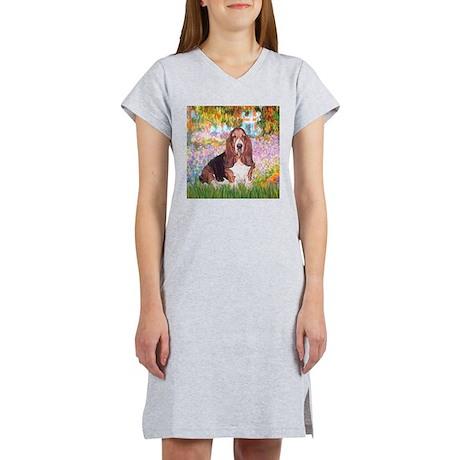 Basset in the Garden Women's Nightshirt
