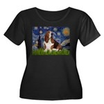 Starry Night & Basset Women's Plus Size Scoop Neck