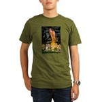 Fairies and Beagle Organic Men's T-Shirt (dark)