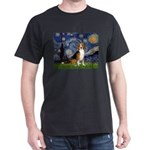 Starry Night & Beagle Dark T-Shirt