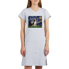 Starry Night / Beagle Women's Nightshirt