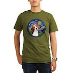 Starry Night Beagle #1 Organic Men's T-Shirt (dark