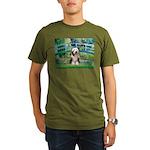 Bridge / Beardie #1 Organic Men's T-Shirt (dark)